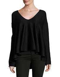 Free People Sundae Bell Sleeved Trapeze Knit Pullover Black