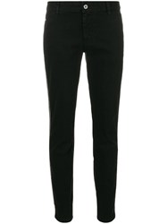 Just Cavalli Skinny Low Rise Jeans Cotton Polyamide Polyester Brass Black