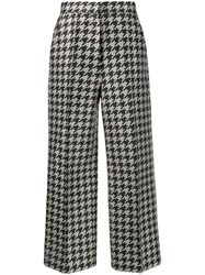 Dice Kayek Houndstooth Print Trousers Green