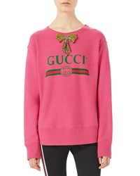 Gucci Embroidered Metallic Sweater Light Pink