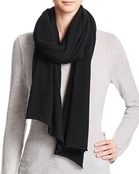 Bloomingdale's C By Bloomingdales Cashmere Angelina Solid Scarf Black