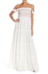 Tory Burch Women's Smocked Cover Up Maxi Dress