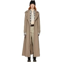Marc Jacobs Tan Redux Grunge Nylon Trench Coat