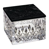 Waterford Lismore Crystal Box With Marble Lid Opulence