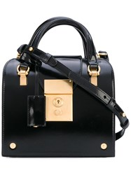 Thom Browne Mini Tote Bag Women Calf Leather One Size Black