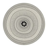 Hibernica Cyclades Striped Rings Round Vinyl Placemat Black White