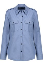 Etoile Isabel Marant Wandy Cotton Chambray Shirt Light Blue