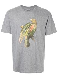 Gieves And Hawkes Bird Print T Shirt Grey