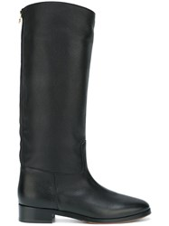 L'autre Chose Rear Zip Boots Black
