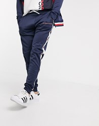 Tommy Hilfiger Taped Cuffed Sweatpants Navy