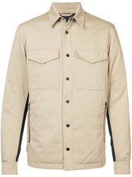 Aztech Mountain Traynor's Down Shirt Jacket Cotton Polyester Feather Down Brown