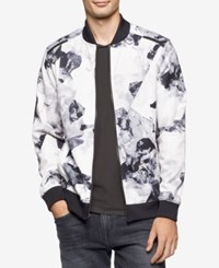 Calvin Klein Men's Black And White Floral Jacket
