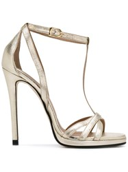Marc Ellis Classic Sandals Women Leather 38 Metallic