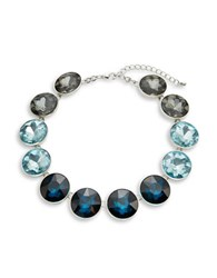 Catherine Stein Jeweled Collar Necklace Blue