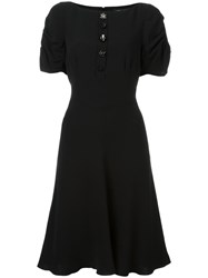 Marc Jacobs Buttoned Flared Dress Black