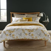 Christy Haruki Duvet Set Ochre Yellow