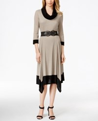 Styleandco. Style And Co. Handkerchief Hem Belted Sweater Dress Only At Macy's