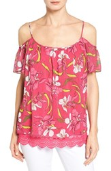 Kut From The Kloth Women's Elsia Print Cold Shoulder Top
