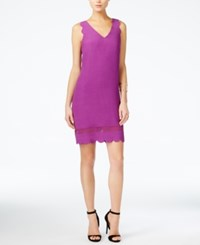 Armani Exchange Scalloped Shift Dress Multi