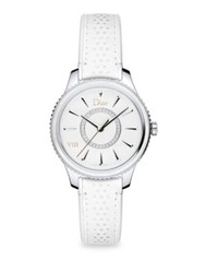Christian Dior Viii Montaigne Mother Of Pearl Leather And Rubber Watch White