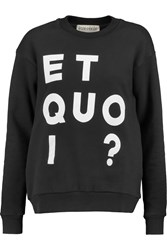 Etre Cecile Printed Stretch Cotton Sweater Black