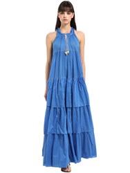 Yvonne S Layered Cotton Voile Maxi Dress