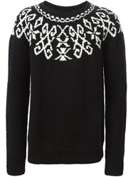 Marcelo Burlon County Of Milan Intarsia Knit Sweater Black