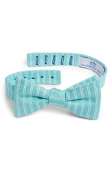 Southern Tide Atlantic Horizontal Cotton And Silk Bow Tie Green