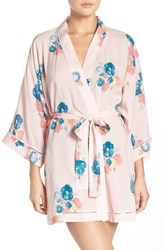 Nordstrom Women's Lingerie 'Sweet Dreams' Print Robe Pink Crystal Large Floral