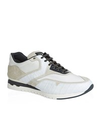 Stefano Ricci Olympia Panelled Sneakers Male White