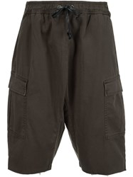 Hudson Drawstring Cargo Shorts Green