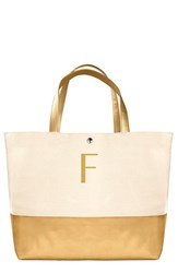 Cathy's Concepts Personalized Canvas Tote Metallic Gold F