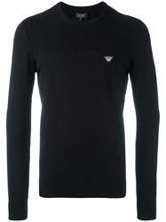 Armani Jeans Crew Neck Jumper Black