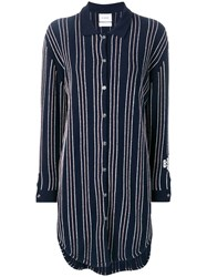 Barrie Stripe Knitted Shirt Dress Blue