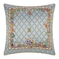 Roberto Cavalli New Spider Silk Cushion Light Blue Multi Blue