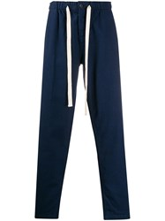 Portuguese Flannel Drawstring Waist Trousers Blue
