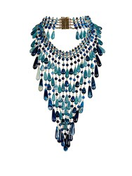 Rosantica By Michela Panero Antica Quartz Necklace Blue Multi