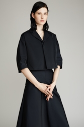 G.V.G.V. Taffeta Cropped Jacket Black