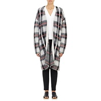 Plaid Sweater Coat Grey Check