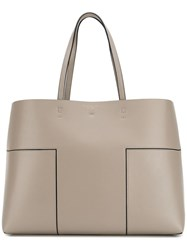 Tory Burch Interior Pouch Tote Nude Neutrals