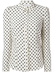 Red Valentino Polka Dot Blouse Nude And Neutrals