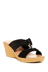 Italian Shoemakers August Sandal Wide Width Available Black