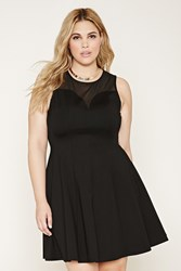 Forever 21 Plus Size Mesh Yoke Mini Dress