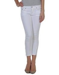 Jil Sander Denim Capris White