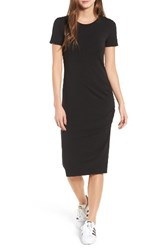 Treasure And Bond Women's Side Ruched Body Con Dress