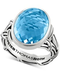 Peter Thomas Roth Blue Topaz Statement Ring 13 Ct. T.W. In Sterling Silver