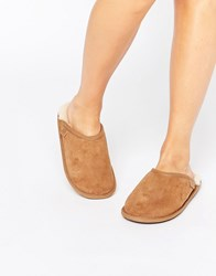 Just Sheepskin Mule Slippers Brown