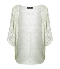 Jenny Packham Sequin Embellished Shawl Female Silver