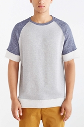 Bdg Colorblocked Raw Edge Short Sleeve Sweatshirt Charcoal