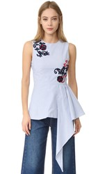 Suno Cascaded Sleeveless Top Striped Selling